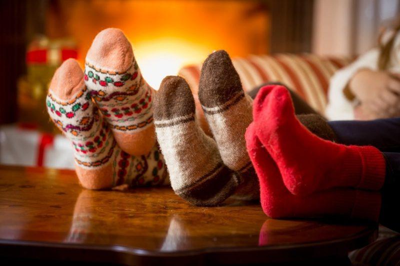 Cosy Socks by Fire